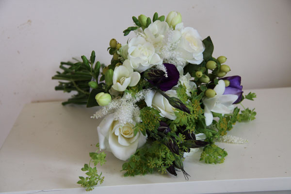 Peonie Freesia Bridesmaid Bouquet