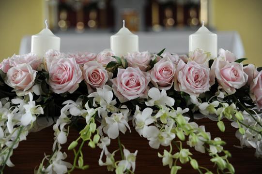 Church Altar Pink Roses