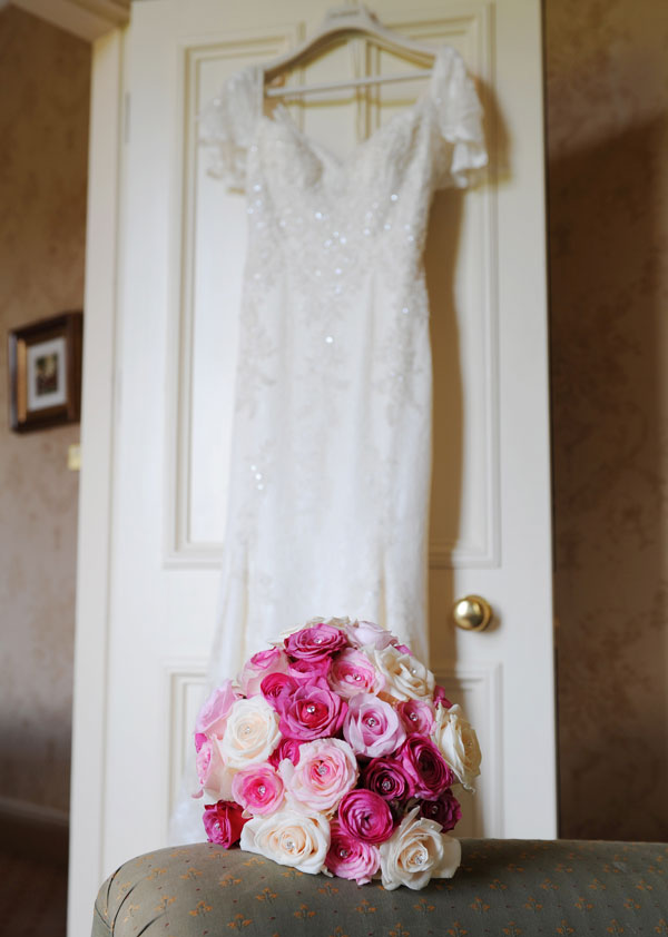 Wedding Dress & Bouquet