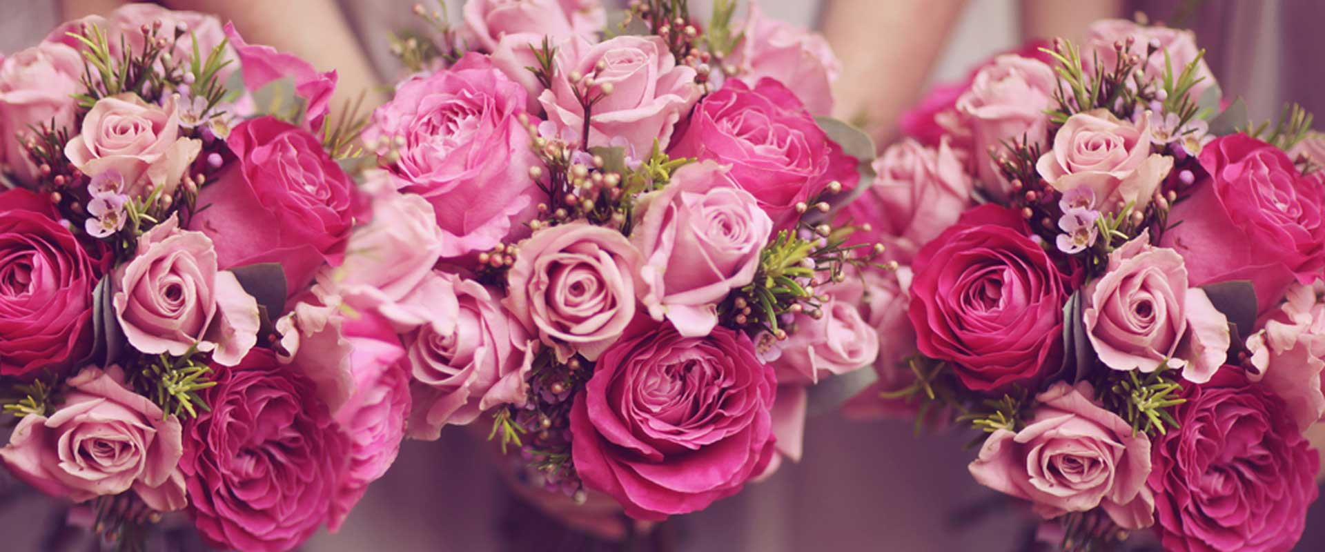 Shades of Bloom Wedding Ceremony Flowers