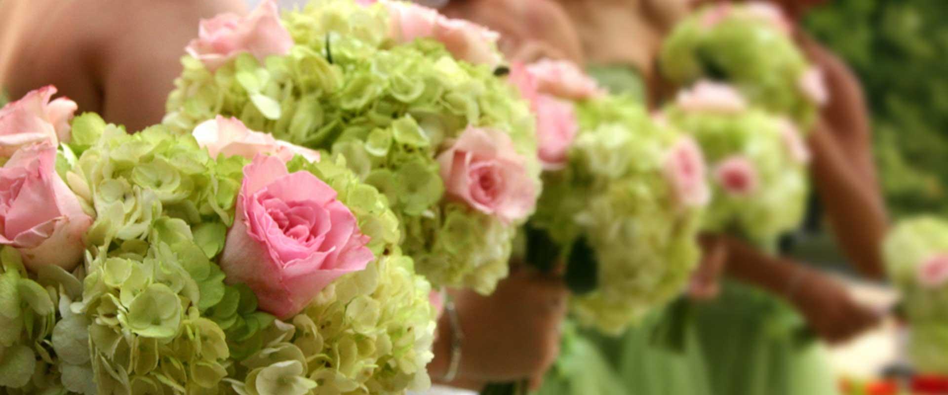 Shades of Bloom Wedding Reception Flowers