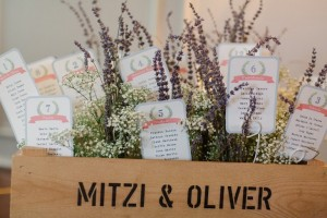 lavender table plan box