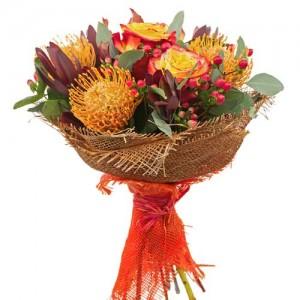 Mixed Orange Bouquet