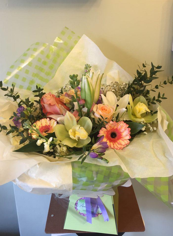 Seasonal Bouquet in Water Box