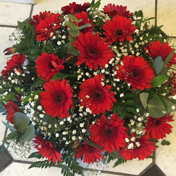 Gerbera Funeral Wreath