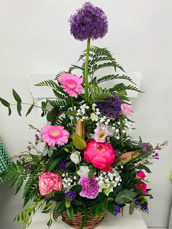 medium flower basket