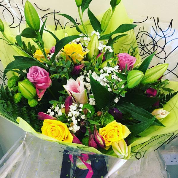 mixed fresh flower bouquet