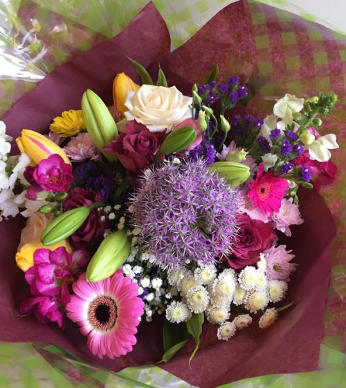 mothers day pink & mauve bouquet