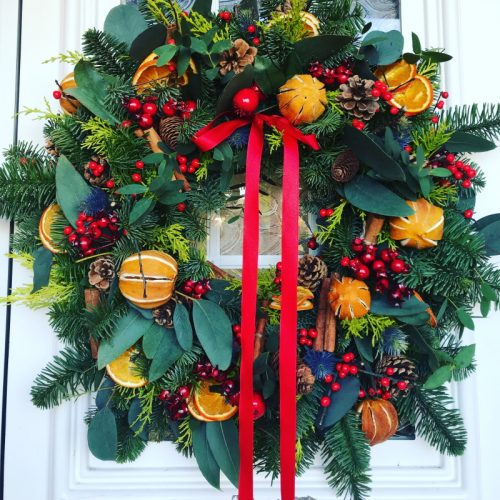 luxury fresh christmas door wreath