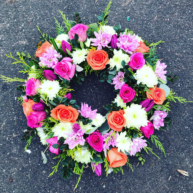 round floral wreath
