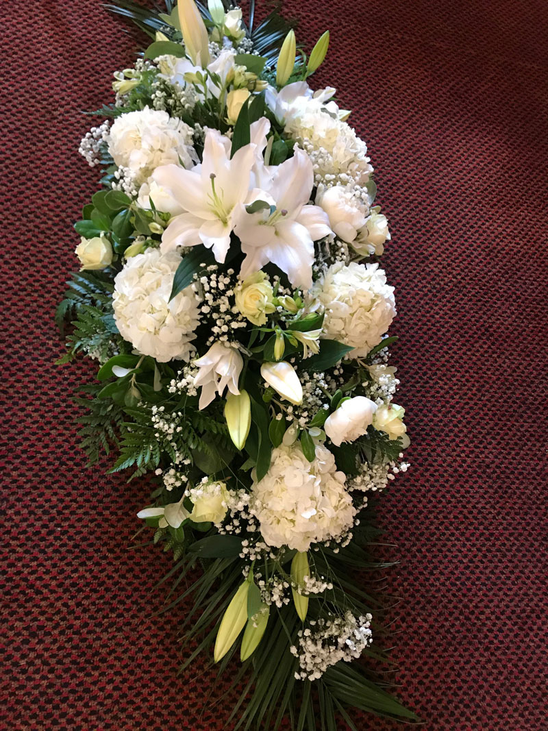 coffin spray wreath