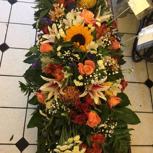 large casket wreath