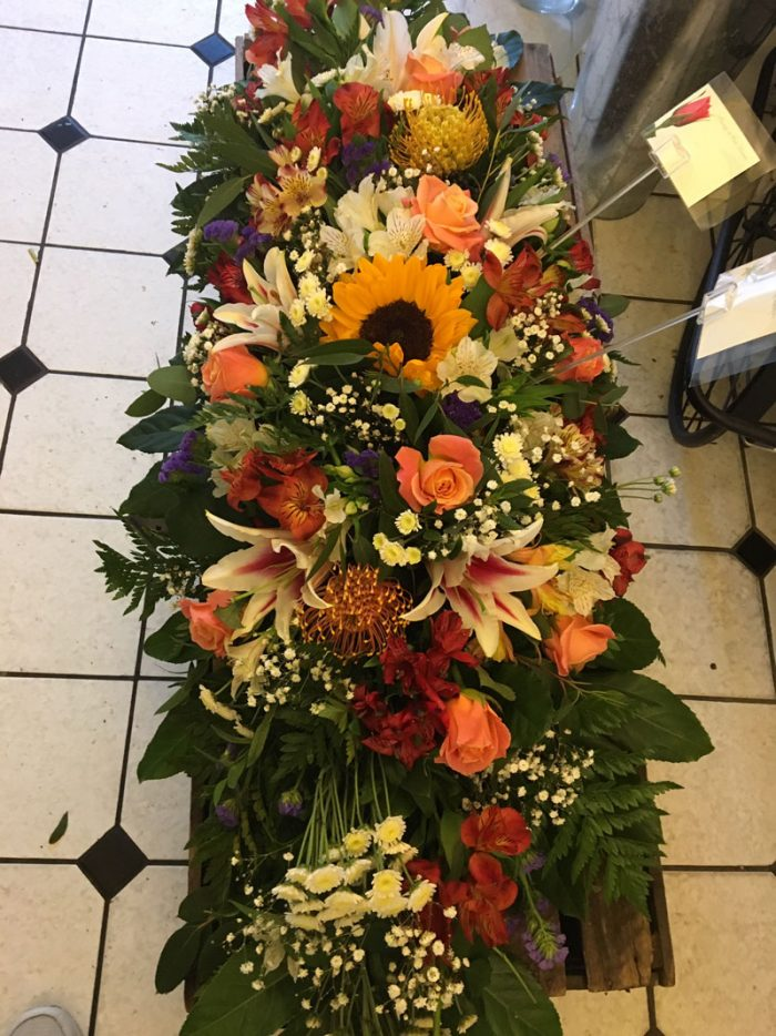 large casket wreath