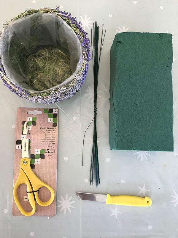 floral basket kit