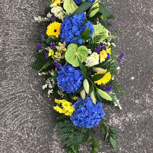 Large Colourful Spray Wreath