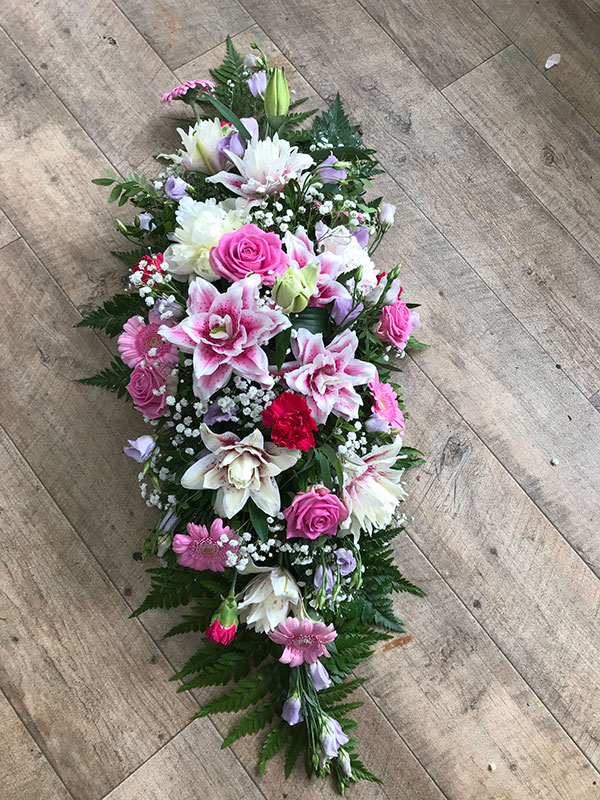 large pink wreath