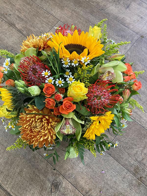 autumn sunshine flower bouquet