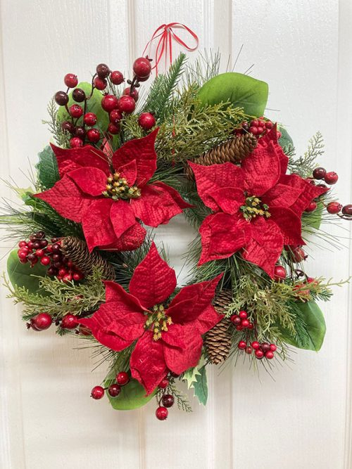 berry pine christmas wreath
