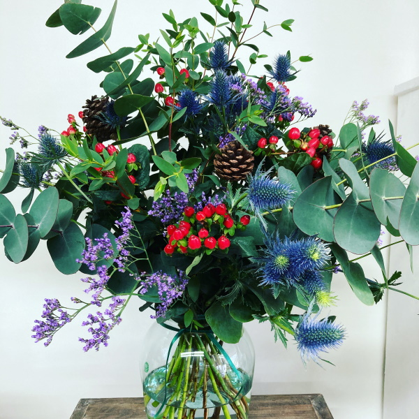 Festive woodland bouquet