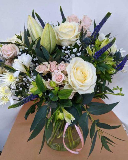 Rosy Posy eco vase arrangement