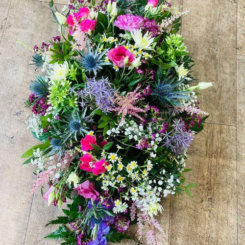 wildflower spray funeral wreath