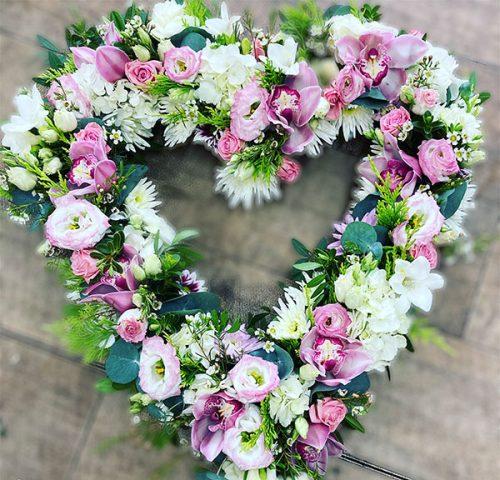 open heart wreath
