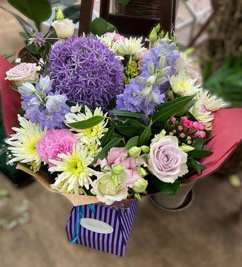 Cool blue summer bouquet