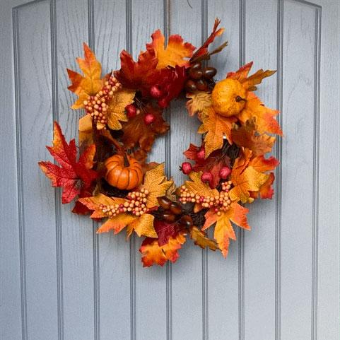 medium autumn door wreath